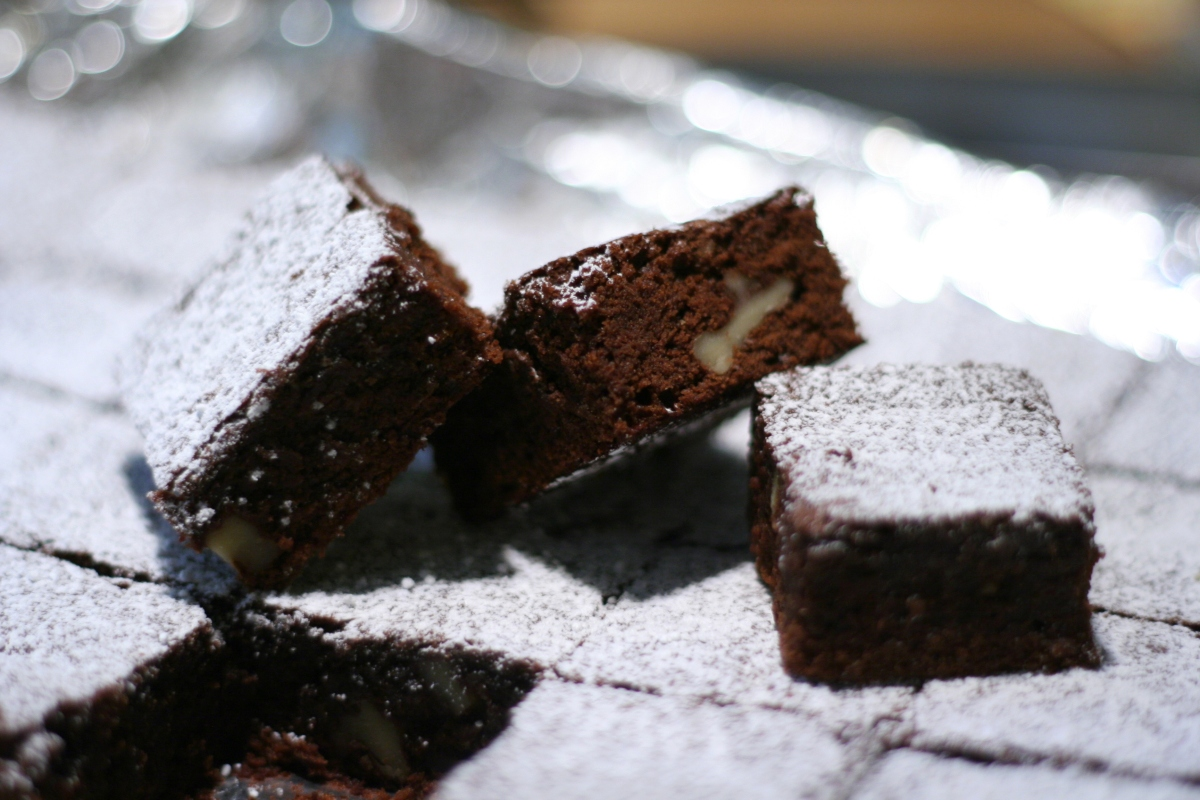 Deep Chocolate Brownies for Grownups