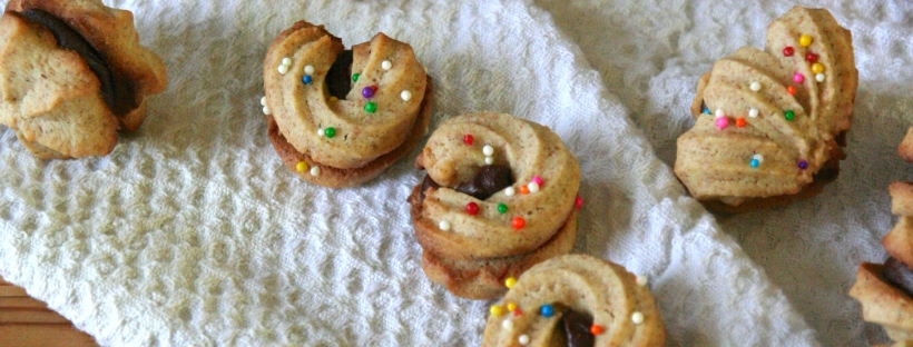 swedish butter cookies with chocolate ganache