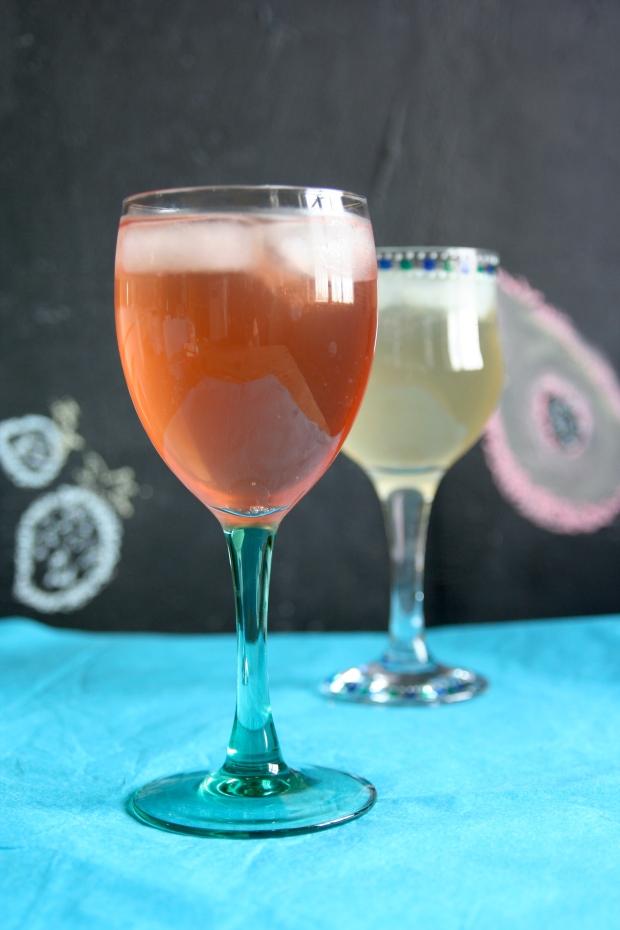 strawberry soda and papaya soda