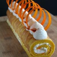 Carrot Soufflé Swiss Roll